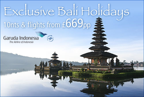Exclusive Bali Holidays with Garuda Indonesia