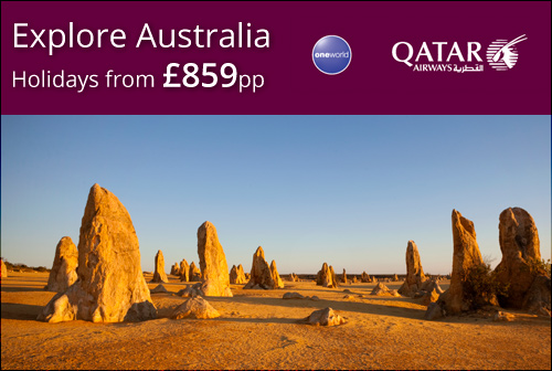 Explore Australia with Qatar Airways