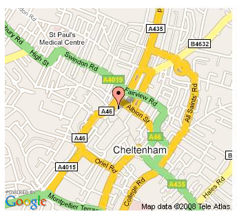 Travelbag Cheltenham Map