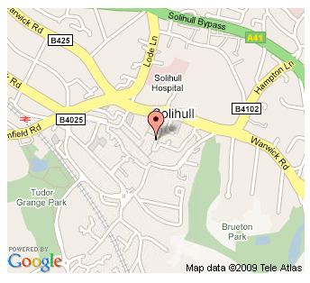 Travelbag Solihull Map