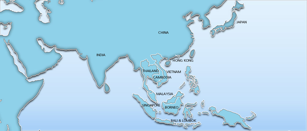 Asia holidays 2014 / 2015 - Holidays to Asia Map