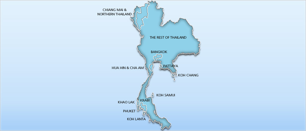Thailand Holidays 2014/2015 – Holidays to Thailand Map