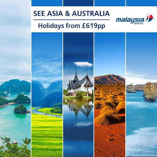 See Asia & Australia with Malaysia Airlines