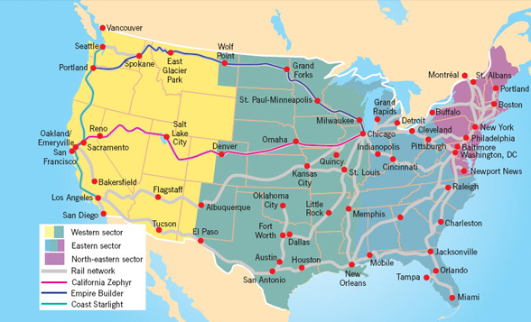 Usa Rail Travel Train Journeys Travelbag: Travel Usa Map At Infoasik.co