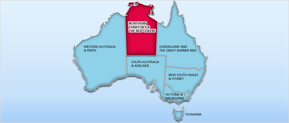 Australia holidays 20182019 cheap australia holiday deals australia holiday deals map northern territory red centre gumiabroncs Gallery