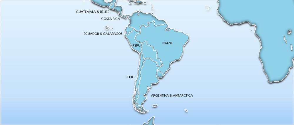 Latin America holidays 2017 / 2018 - Holidays to Latin America Map