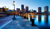 Boston at dusk