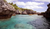 Beautiful coves in Samoa