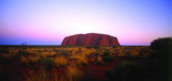 Uluru or Ayers Rock with Travelbag