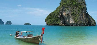 The beautiful Andaman sea with Travelbag
