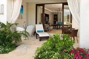 South Seas Waterfall River Pool Walkout Junior Suite With Patio Tranquility Soaking Tub