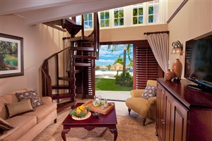 Caribbean Honeymoon Beachfront Two Storey One Bedroom Butler Suite