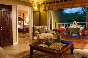 Sunset Bluff Honeymoon One Bedroom Butler Suite With Balcony Tranquility Soaking Tub