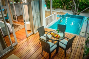 Family Duplex Beach Villa with Pool
