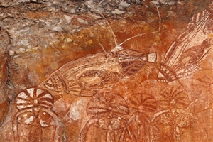 Aboriginal rock art - click to expand
