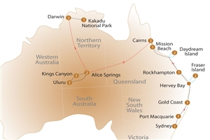 19 day/16 day Grand Australian Discovery - click to expand