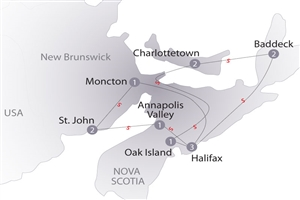 13 day Atlantic Maritimes - click to expand