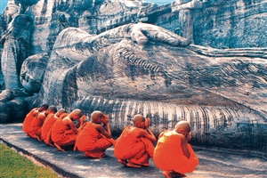 Monks Praying - click to expand