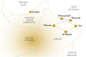 8 day Scenic Treasures of Oman - click to expand