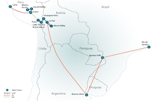 19 Day Grand Tour of South America - Peru, Bolivia, Argentina & Brazil - click to expand