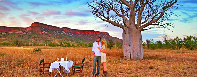 Fine dining in Australia's outback