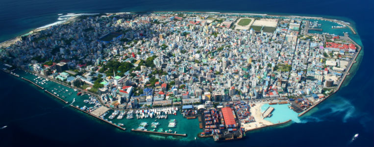 Male, the capital city of The Maldives